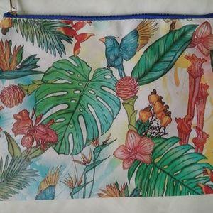NWT tropical print make up bag